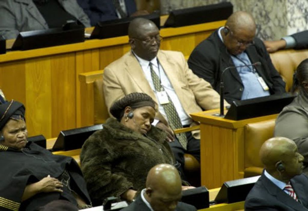 Image result for south african politicians sleeping in parliament